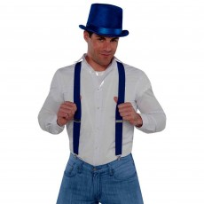 Blue Navy Suspenders Costume Accessorie