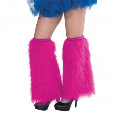 Pink Plush Leg Warmers Adult Costume