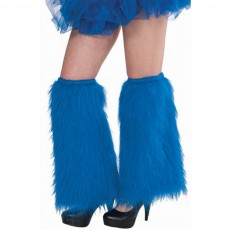 Blue Push Leg Warmers Adult Costume