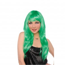 Hollywood Party Supplies - Glamorous Wig Green