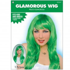Hollywood Green Glamorous Wig Head Accessorie