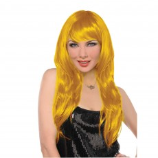 Hollywood Party Supplies - Glamorous Wig Yellow