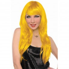 Hollywood Yellow Glamorous Wig Head Accessorie