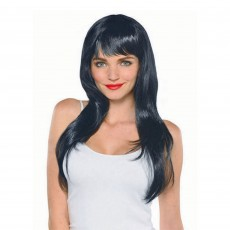 Hollywood Party Supplies - Glamorous Wig Black