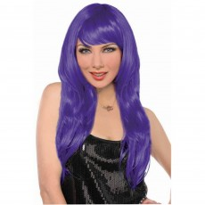 Purple Glamorous Wig Head Accessorie