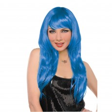 Hollywood Party Supplies - Glamorous Wig Blue