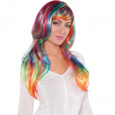 Rainbow Glamorous Wig Head Accessorie