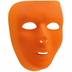 Orange Party Supplies - Full Face Mask