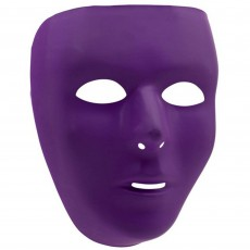 Purple Party Supplies - Full Face Mask
