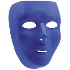 Blue Party Supplies - Full Face Mask Blue