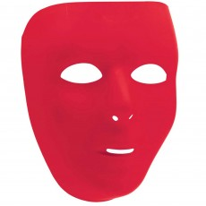 Red Party Supplies - Full Face Mask