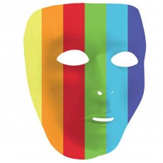 Rainbow Party Supplies - Full Face Mask