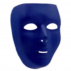 Blue Party Supplies - Full Face Mask Navy Blue