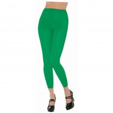 Green Footless Tights Adult Costume