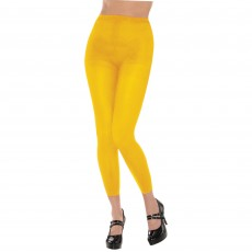 Yellow Footless Tights Adult Costume