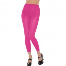 Pink Footless Tights Adult Costume