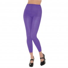 Purple Footless Tights Adult Costume