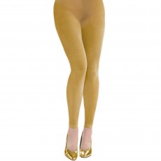 Gold Footless Tights Costume Accessorie