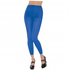Blue Footless Tights Adult Costume