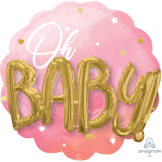 Baby Shower - General Pink  Shaped Balloon