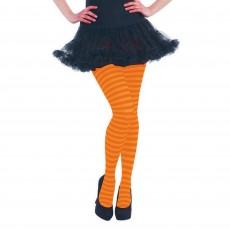 Orange Striped Tights Costume Accessorie