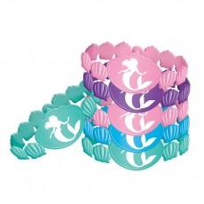 The Little Mermaid Ariel Dream Big Rubber Bracelets Favours Pack of 6