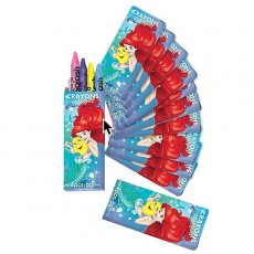 The Little Mermaid Ariel Dream Big Crayons Favours Pack of 12