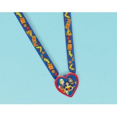 Super Hero Girls Party Supplies - Favours Charm Necklaces