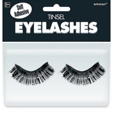Black Party Supplies - Tinsel Eyelashes