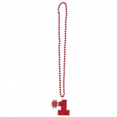 Number 1 Red Bling Necklace Jewellery