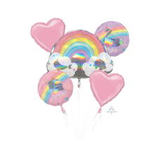 Magical Unicorn Magical Rainbow Unicorn Sparkle Bouquet Foil Balloons
