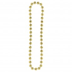 Gold Jumbo Ball Bead Necklace Jewellery