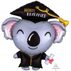 Graduation SuperShape Grad Koala Totally Koalafied Shaped Balloon 76cm x 81cm