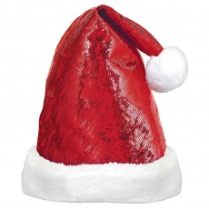Christmas Santa Glitzy Look Hat Head Accessorie