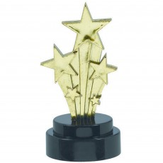 Hollywood Plastic Trophies 10cm Pack of 6