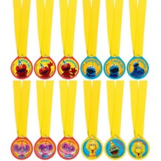 Sesame Street Medals Awards Pack of 12