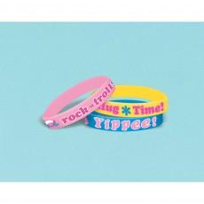 Trolls Rubber Bracelet Favours Pack of 6