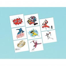 Power Rangers Ninja Steel Tattoos Favours