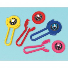 Power Rangers Party Supplies - Favours Ninja Steel Disc Shooters