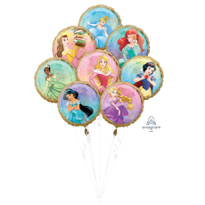 Disney Princess Once Upon A Time Bouquet Foil Balloons
