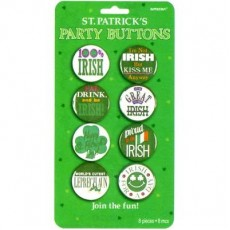 St Patrick's day Party Supplies - Plastic Party Button / Badge