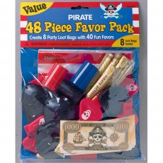 Pirate's Treasure Pirate Party Mega Mix Favours For 8 Guests Pack of 48