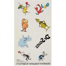 Dr Seuss Tattoo Favours 5cm x 4cm 8 Tattoos