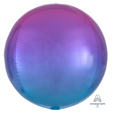 Blue Ombre Red &  Shaped Balloon