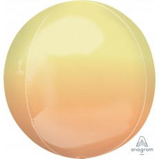Ombre Yellow & Orange Shaped Balloon 38cm x 40cm