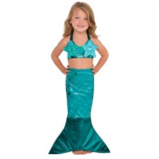 Teal Mermaid Wishes Mermaid Child Costume Small 4-6 Years