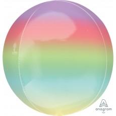 Rainbow Ombre  Shaped Balloon