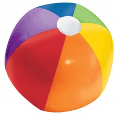 Hawaiian Luau Rainbow Inflatable Beach Ball Shaped Balloon