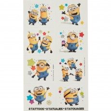 Minions Despicable Me Tattoo Favours 5cm x 4cm 8 Tattoos