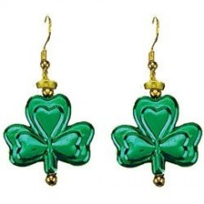 St Patrick's day Shamrock Dangling Earings Costume Accessories